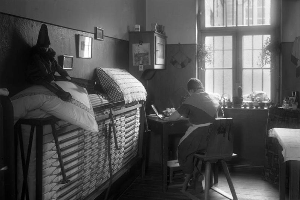 Zelle im Frauengefaengnis Barnimstrasse 1931