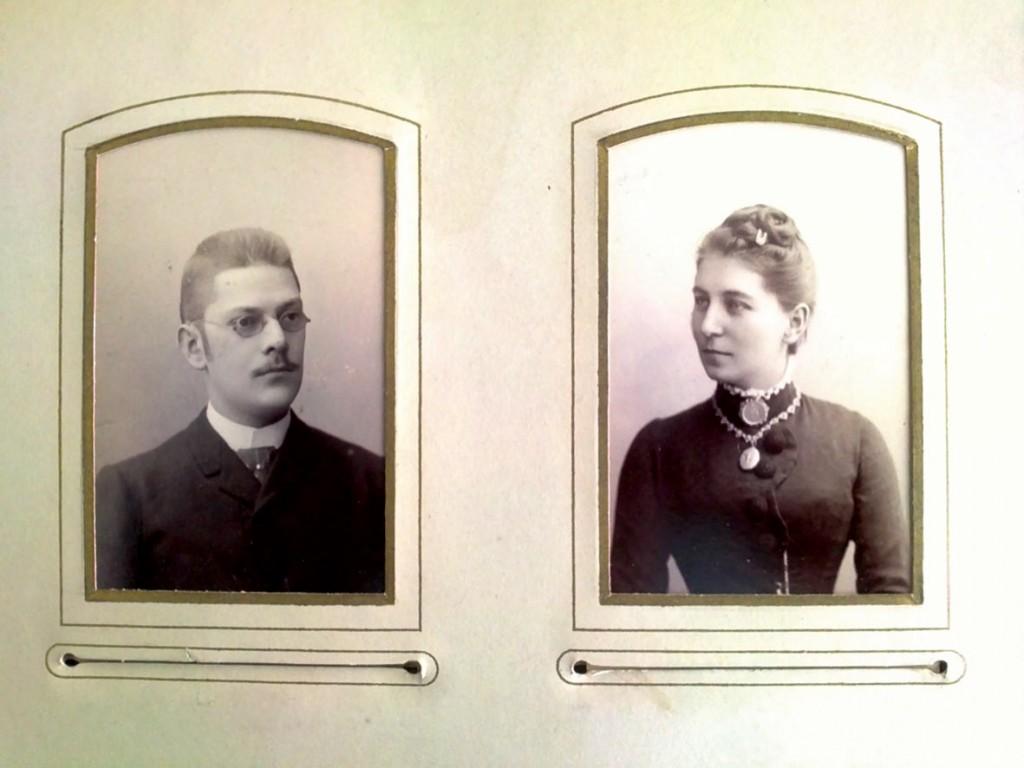 Aus dem Familienalbum: Ernst Hahn mit seiner Frau Käthe um 1895.         / Bild: Museum Lichtenberg