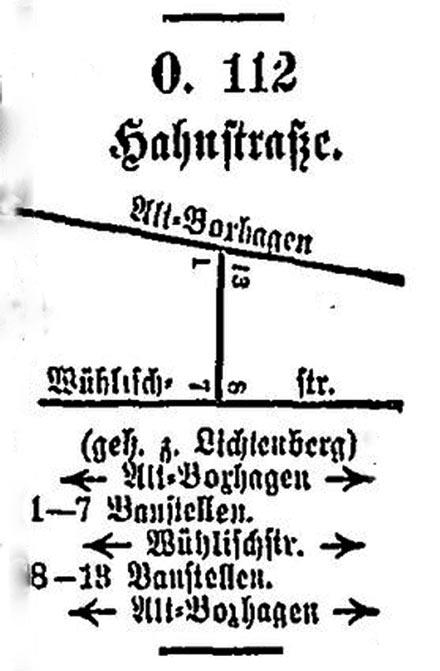 Die Ernst Hahn strasse 1914 erstmalig im Berliner Adressbuch: Noch unbewohnt.
