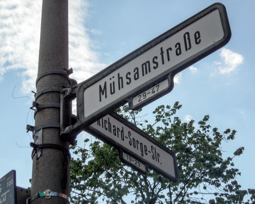 Mühsamstraße Ecke Richard Sorge Str. in Berlin Friedrichshain