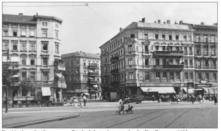Die Mögliner Straße in den 1930er Jahren (Postkarte)