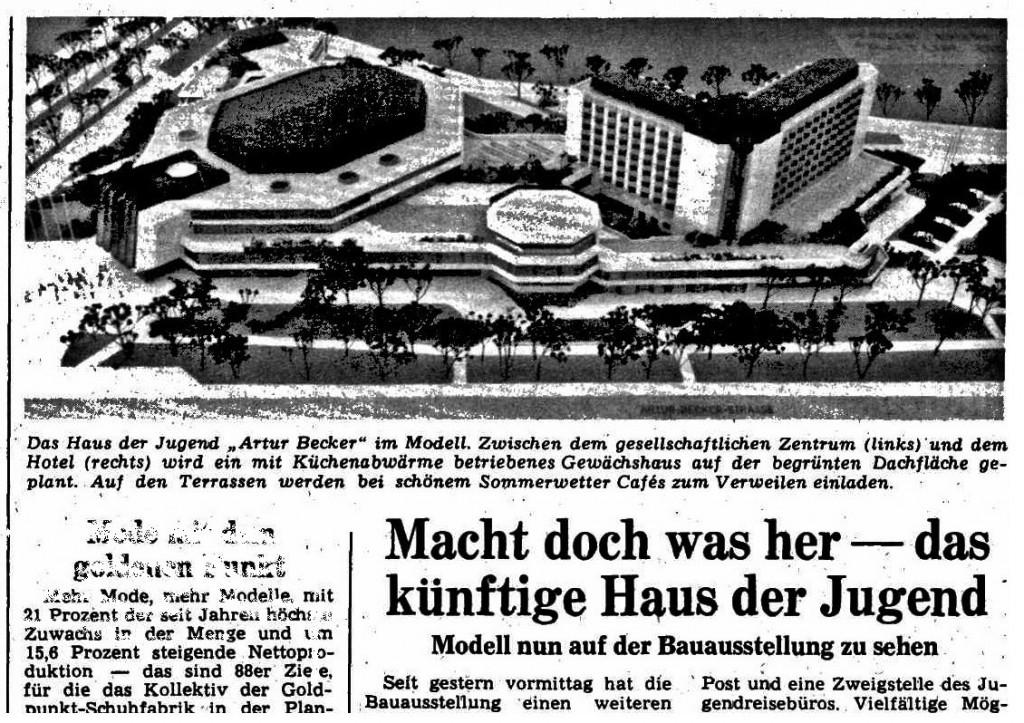 Vorstellung des Projekts in der Berliner Zeitung am 15. Juli 1987