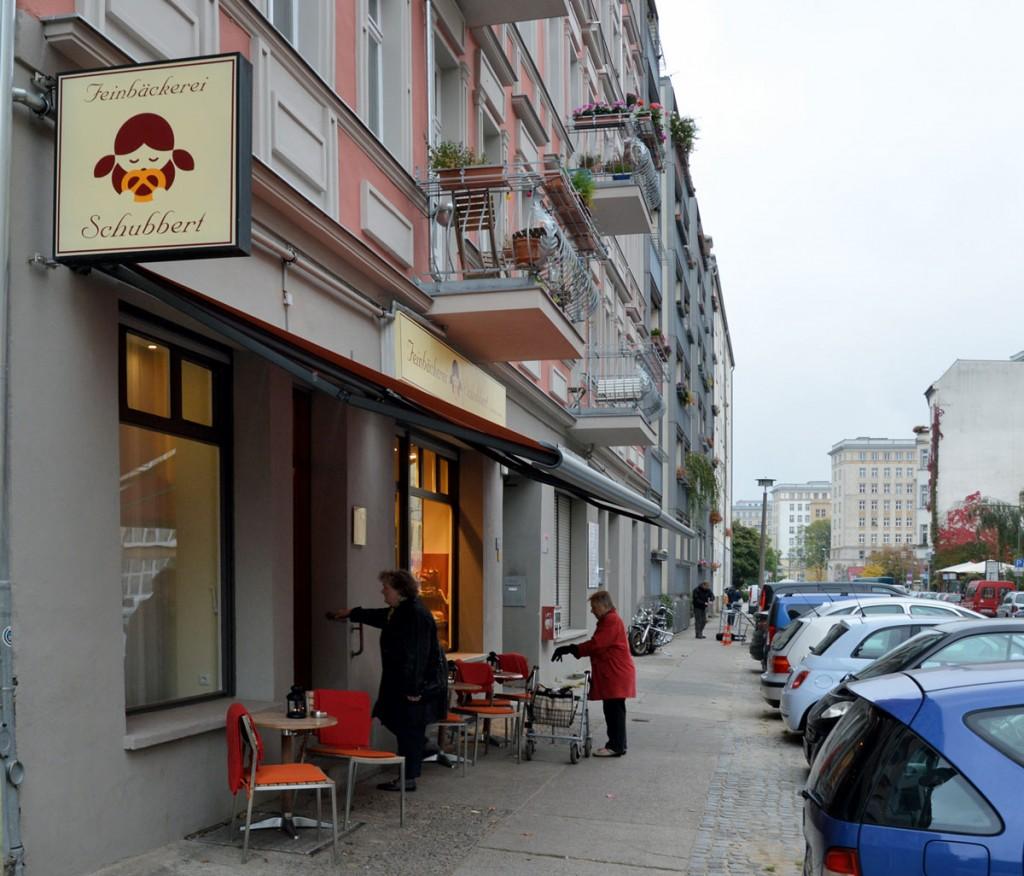 Feinbäckerei Schubbert, Palisadenstraße 58, Friedrichshain. Foto. Dirk Moldt