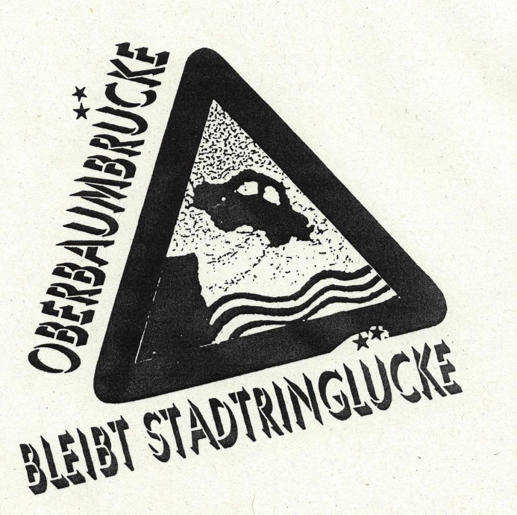 1992: Flyer Oberbaumbrücke / Quelle: Flugblatt, FHXB-Museum /