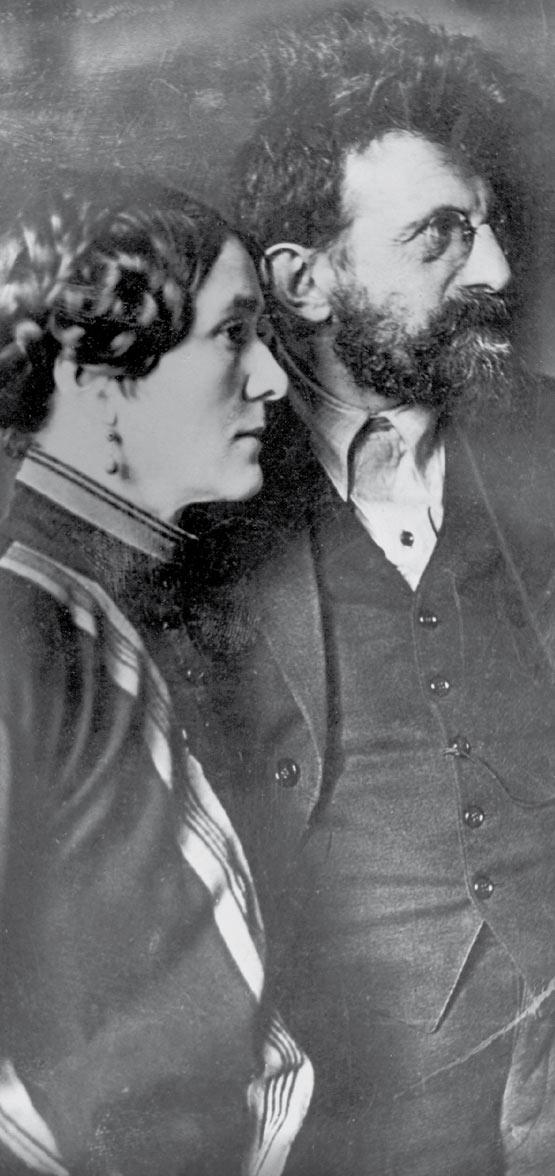 Zenzl und Erich Mühsam im Dezember 1924, kurz nach Mühsams Haftentlassung. / Quelle: Privatsammlung /