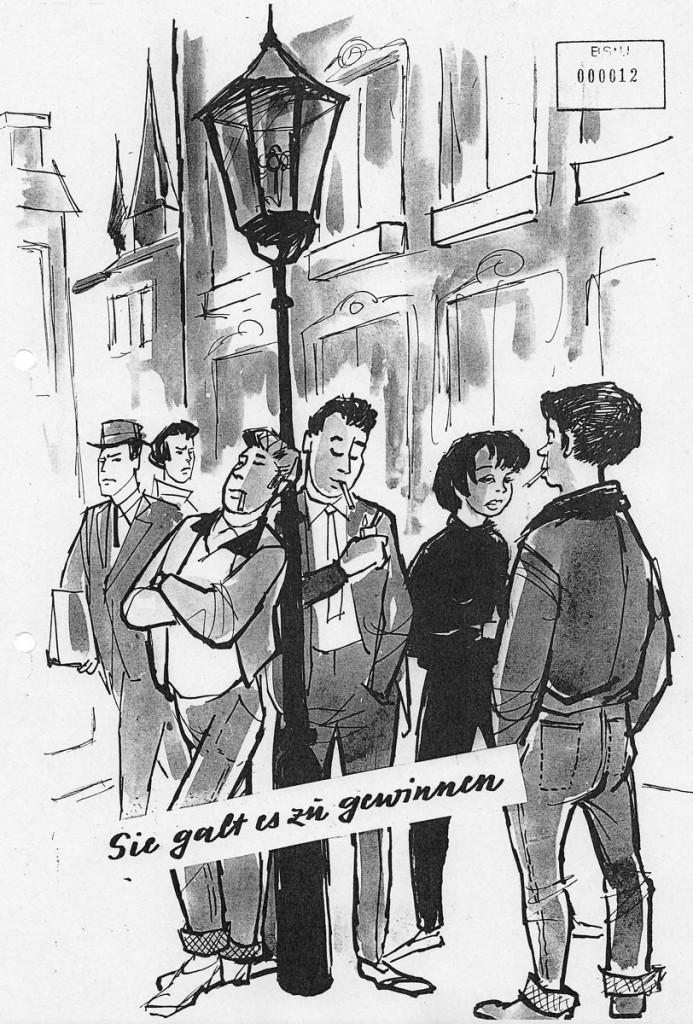 Club Barnimstrasse  Sie galt es zu gewinnen / Quelle: BStU /