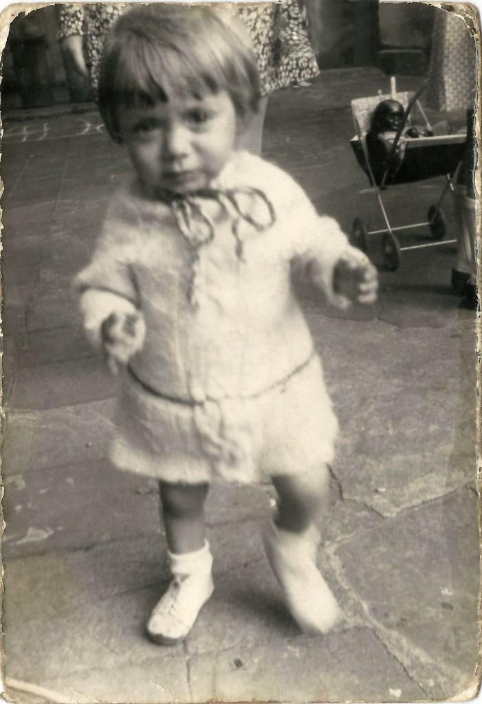 Diana Kleene im zarten Alter von zwei Jahren. / Foto: privat /