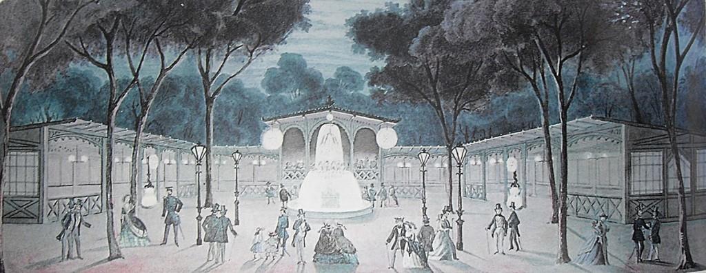 Theater-Blumenstrasse-9-Friedrichshain-1856-Berlin-Quelle: Berliner Leben, Erinnerungen und Berichte, Rütten & Loening, 1954