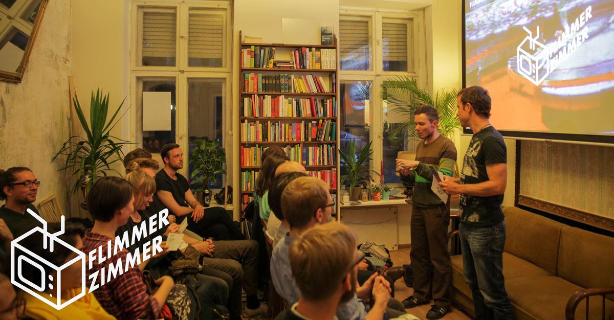 Die Veranstaltungsreihe FLIMMERZIMMER findet regelmäßig 1–2 Mal pro Monat statt. Creative office e.V. lädt FilmemacherInnen & Filminteressierte dazu ein.