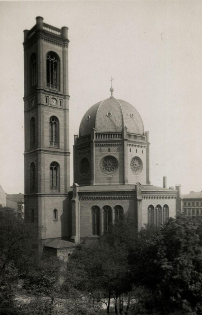 Vorlage: Aufischtsvorlage St. Markus-Kirche um 1910, Berlin-Friedrichshain Historische Postkarte 1920er-1930er Jahre