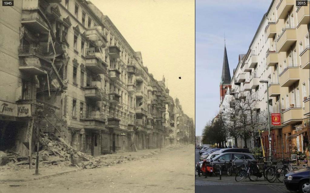 Bilder eines sowjetischen Korrespondenten zeigen Berlin kurz nach dem Krieg. 70 Jahre später besucht der Berliner Fotograf Fabrizio Bensch die Orte noch einmal. Quelle: Berliner Morgenpost. Fotos: Reuters/MHM/Georgiy Samsonow, Fabrizio Bensch/Reuters