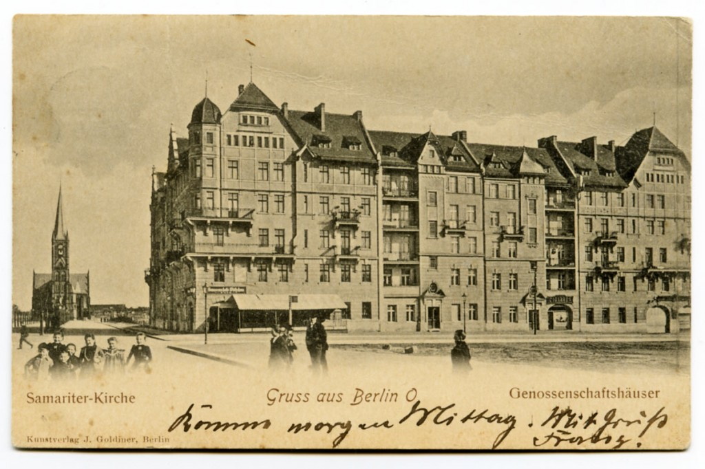 Postkarte aus dem Archiv des Bezirksmuseums Friedrichshain-Kreuzberg. Weitere Infos siehe Postkarte.