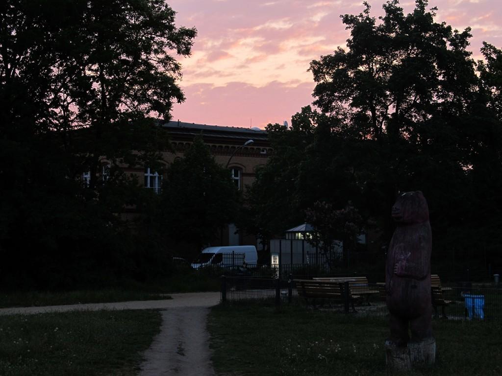 Sonnenuntergang in Friedrichshain, Foto: Steffen Maria Strietzel