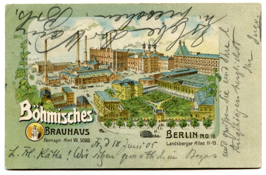 Postkarte: Böhmisches Brauhaus