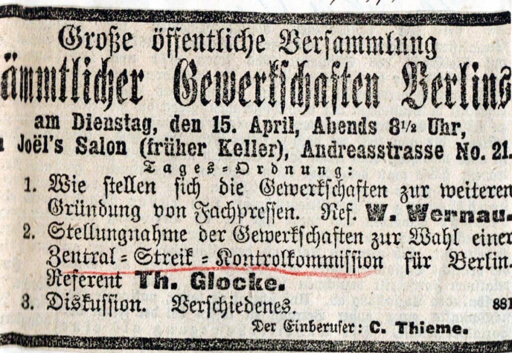 Gruendung der Streikkontrollkommission,1890