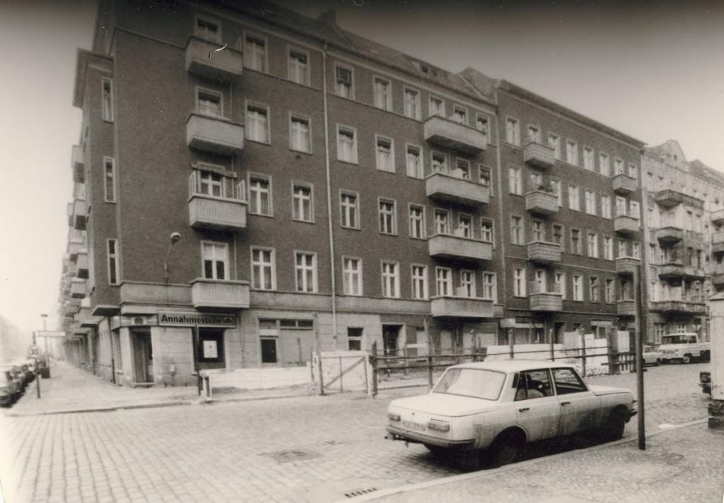 Die Samariterstraße Anfang der 90er