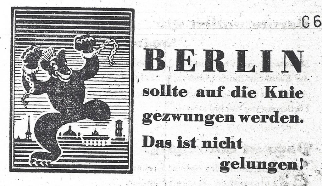 UGO-Plakat mit Logo zum S-Bahnstreik, Quelle: Landesarchiv Berlin