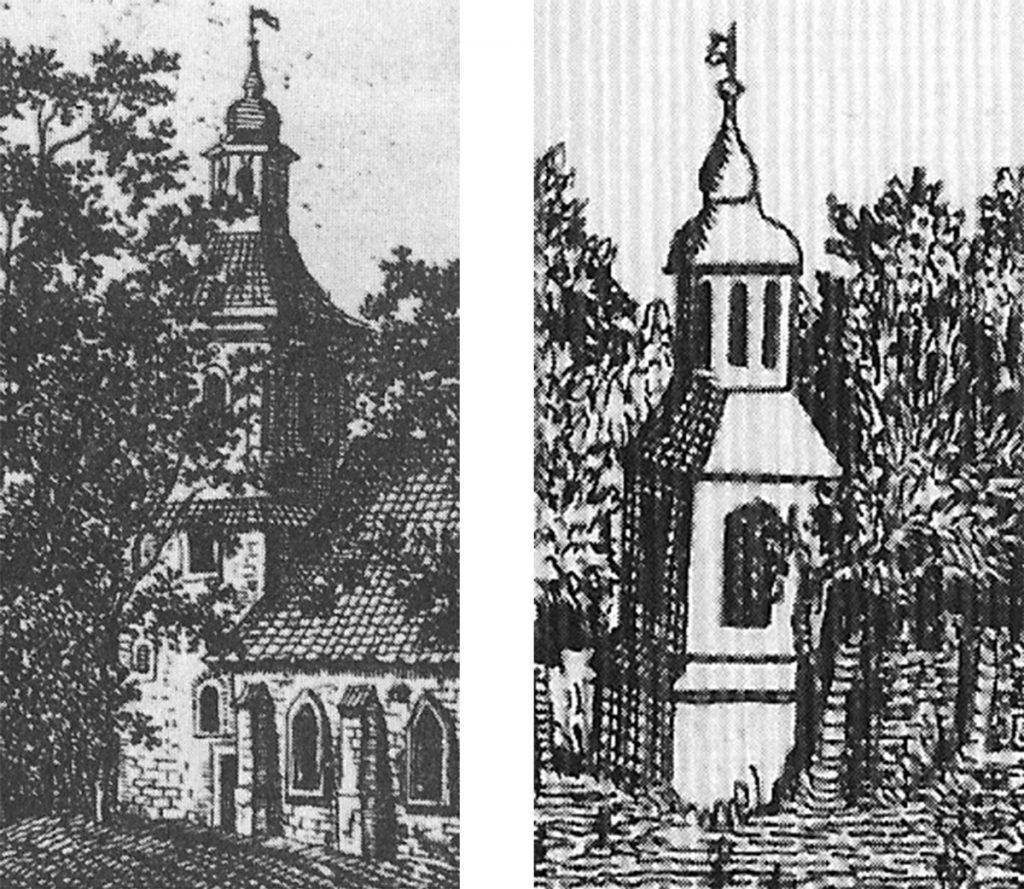 Älteste Darstellungen der Dorfkirche Stralau