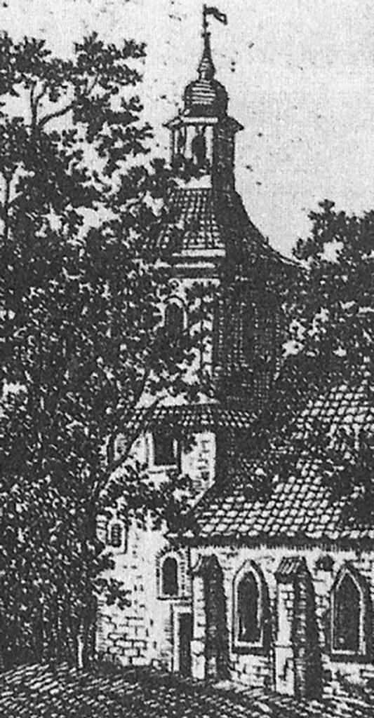 Älteste Darstellung der Dorfkirche Stralau