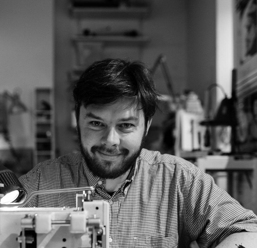 """Hannes Gebien von der Taschenwerkstatt """"packattack""""Foto: Giovanni Lo Curto"""