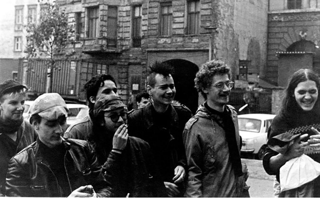 Silvio-Meier-Preis. Foto (privat): Silvio Meier und Freunde, 1988