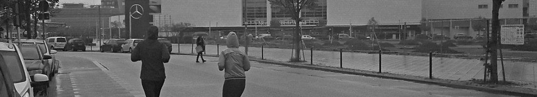 Läufer in der Tamara-Danz-Straße