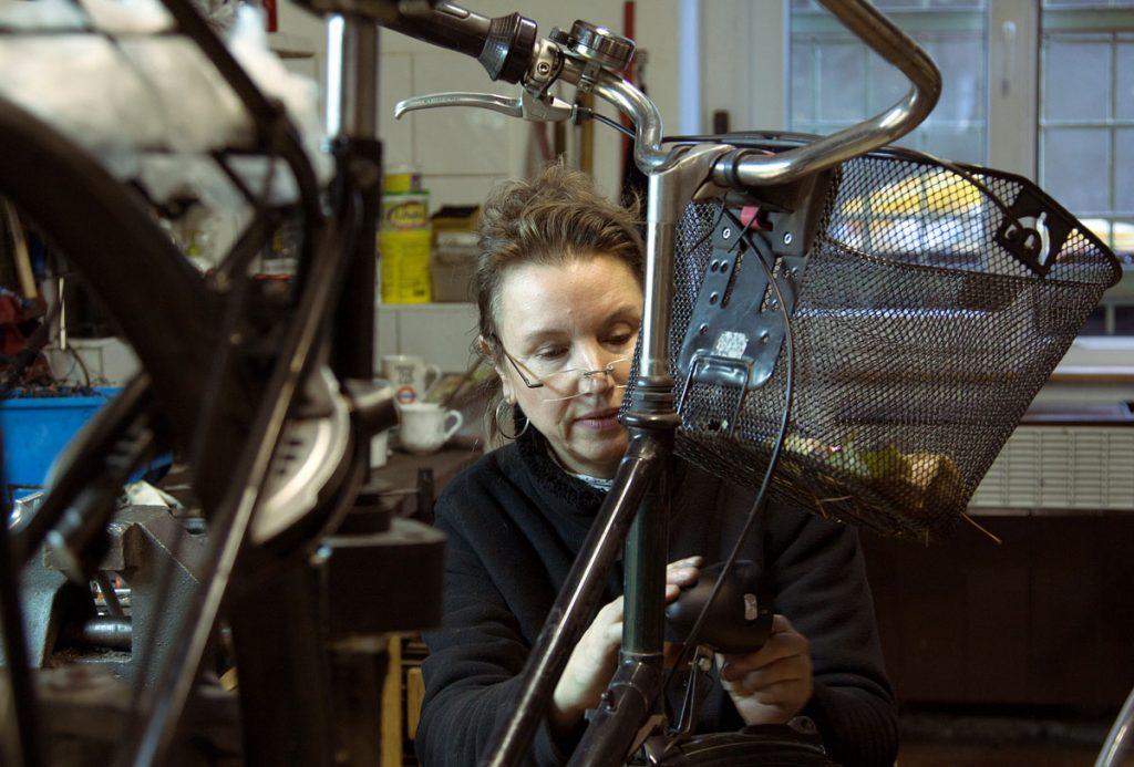 Britta Schmidt bei der Arbeit, Foto: Anne Winkler
