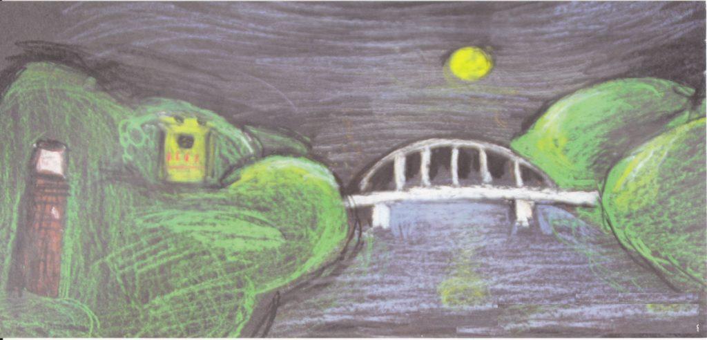 Zeichnung vom Stadtpark, Quelle: Werbeflyer des Aktionskreises