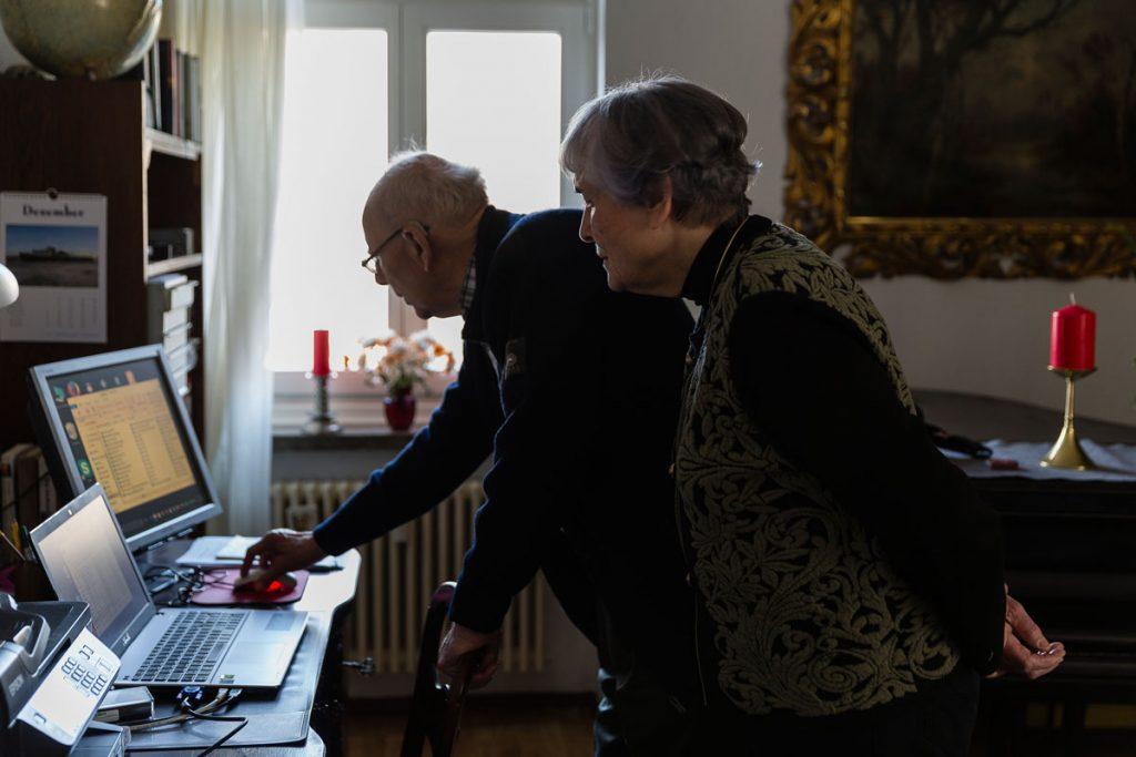 Christine und Gerhard Cyrus, Katechetin und Pfarrer der Galiläa-Gemeinde im Ruhestand, Foto: Giovanni Lo Curto