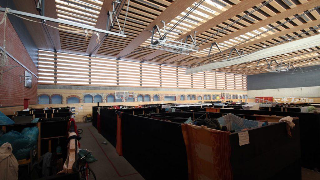 Turnhalle in der Otto-Ostrowski-Straße, Foto: Matthias Strobel
