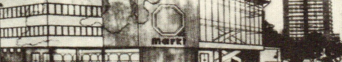"""Fassadenentwurf Ringbahnhalle 1988, Quelle: """"Architektur der DDR"""" Nr. 5/88 aus Artikel """"Neubau Ringbahnhalle in Friedrichshain"""""""
