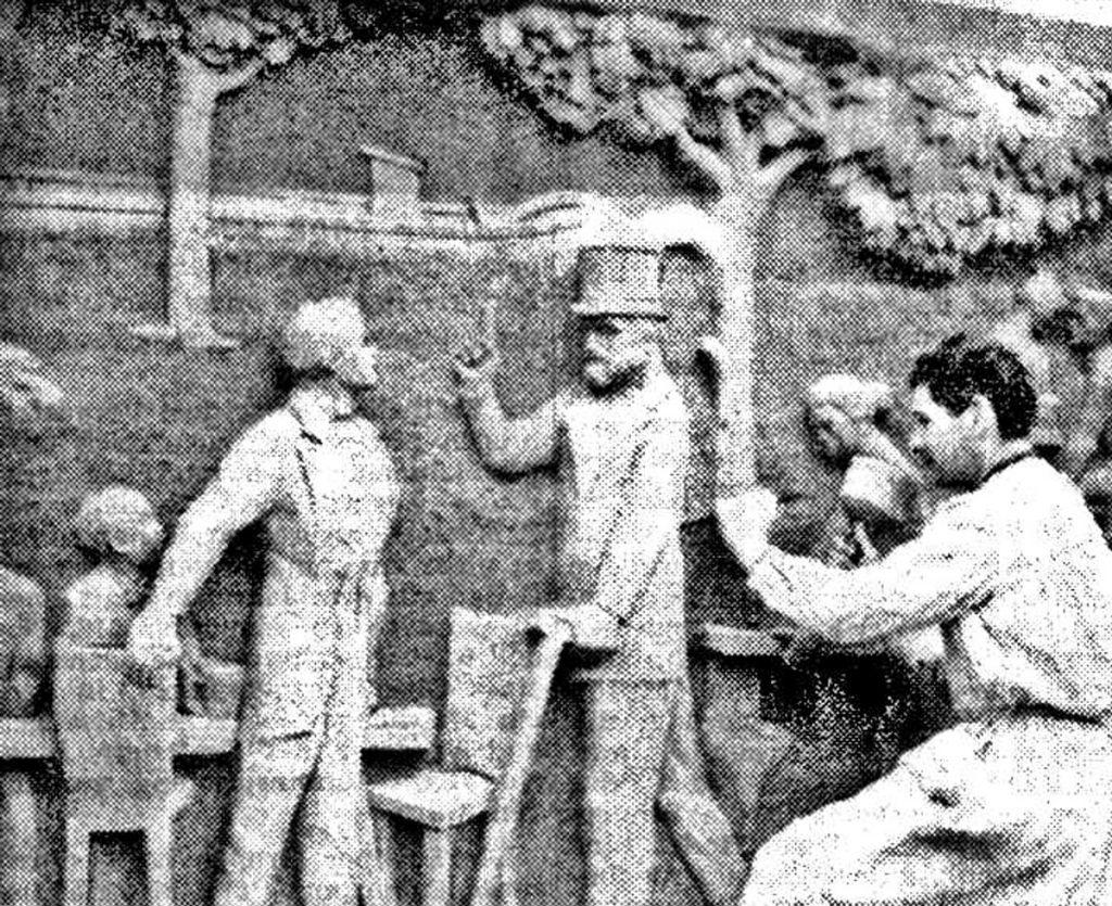 Franz Kies arbeitet an der Karl-Marx-Gedenkstätte, Quelle:: FHXB-Museum