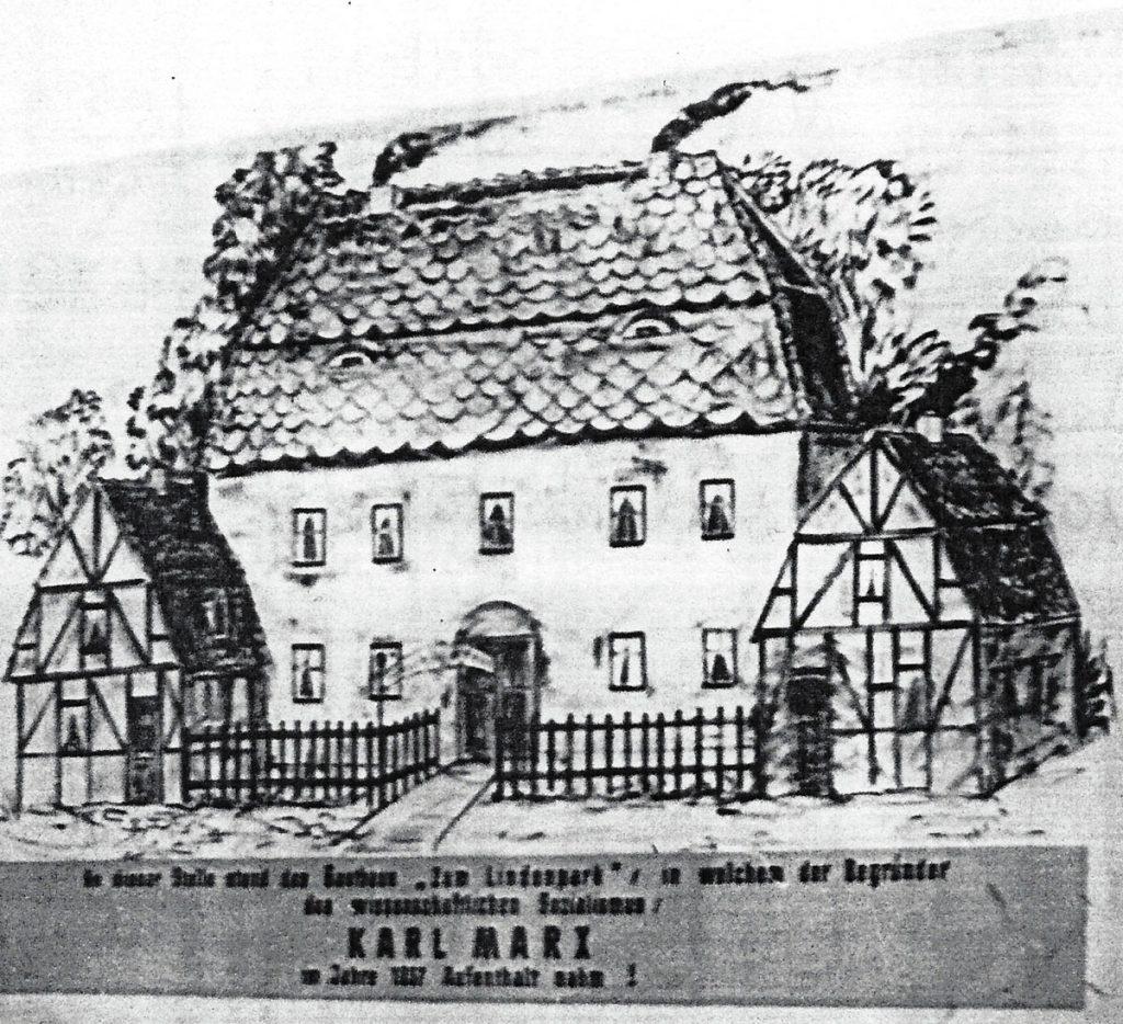 Reproduktion der ersten Karl-Marx-Gedenktafel von 1929, Bild: FHXB-Museum