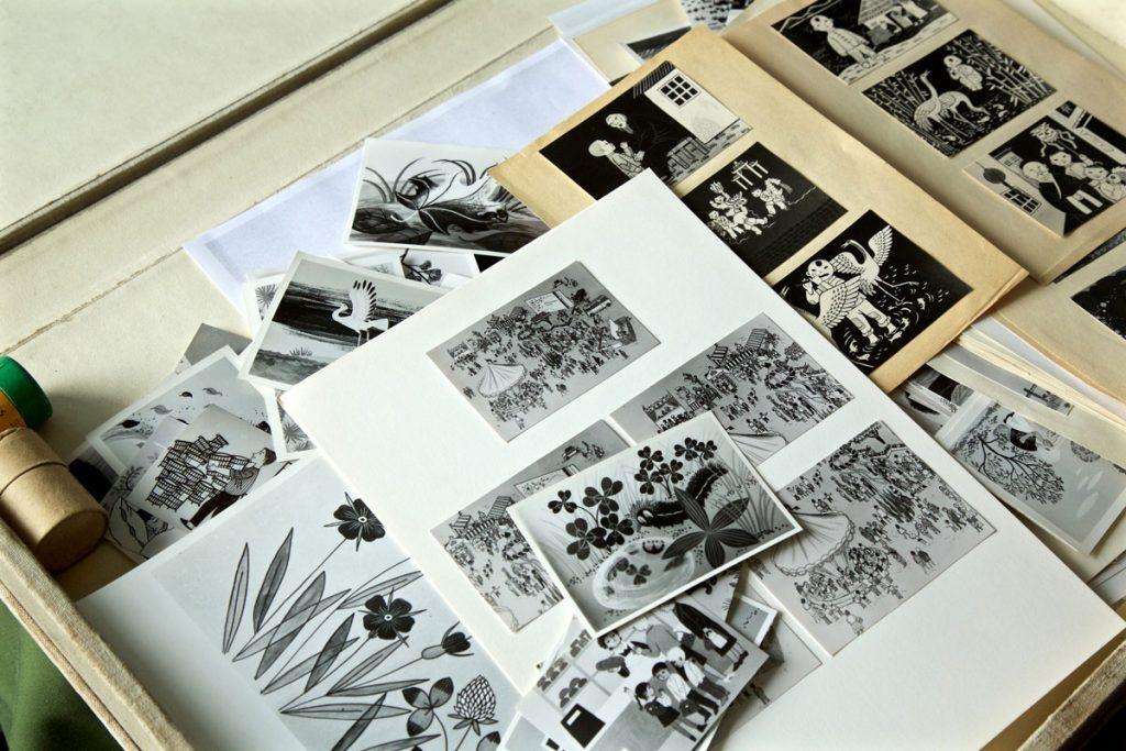 Illustrationen von der Graphikerin Regina Gebhard, Foto: Anne Winkler