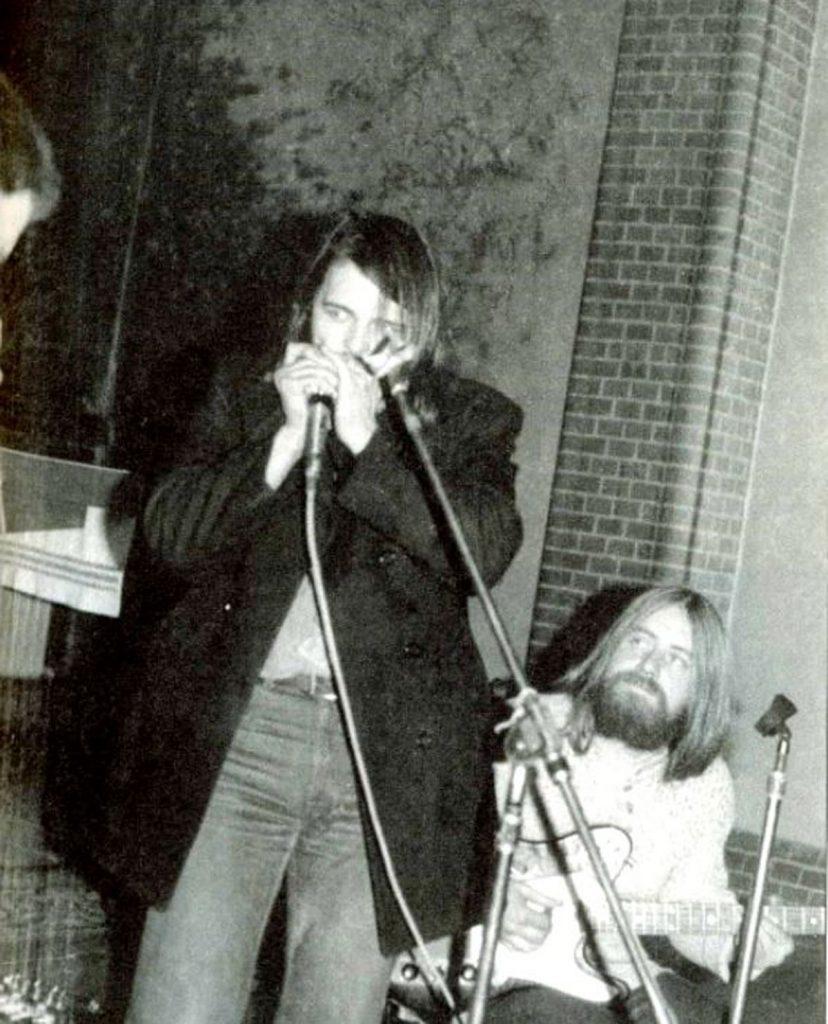 Frank Gahler und Günter Holwas auf einer Blues-Messe, Foto: privat