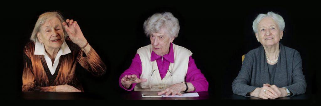 """Doku """"Kriegskinder"""" von Ina Rommel & Stefan Krauss. Zwölf Frauen berichten über ihre persönlichen Erlebnisse während des 2. Weltkrieges. Sie erzählen sehr emotional, aber auch manchmal erschreckend nüchtern, was sie zwischen sieben und siebzehn erlebt haben. Foto: Ina Rommel & Stefan Krauss."""