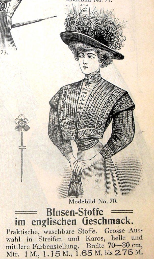Anzeige von Jandorf, 1908, Quelle: Kaufhaus Jandorf Verkaufs Katalog