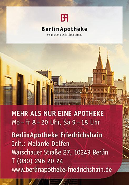 BerlinApotheke Friedrichshain, Warschauer Str. 27, 10243 Berlin