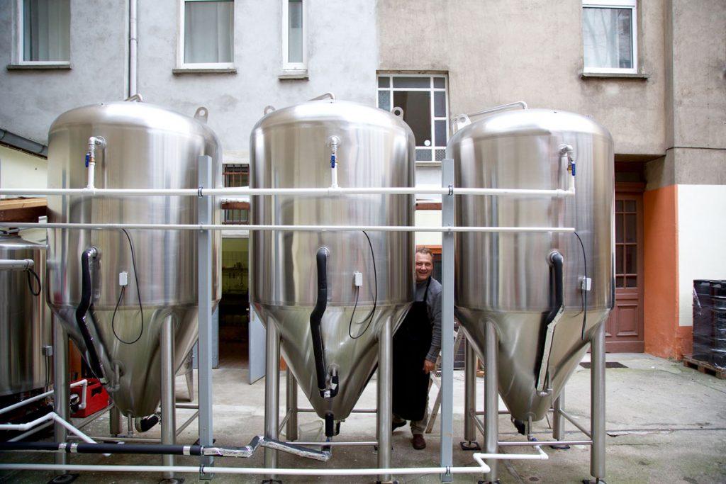 Brauereibehälter in der Brauerei Flessa, Foto: Anne Winkler