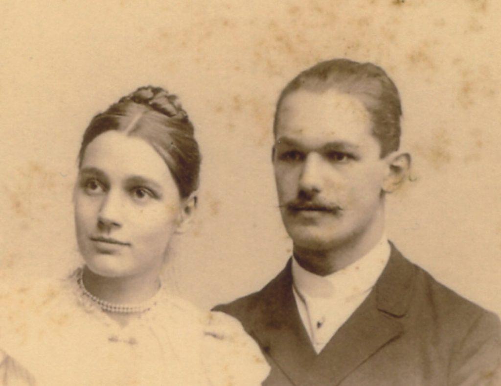 Brautpaar Kurth 1901, Quelle: Museum Lichtenberg