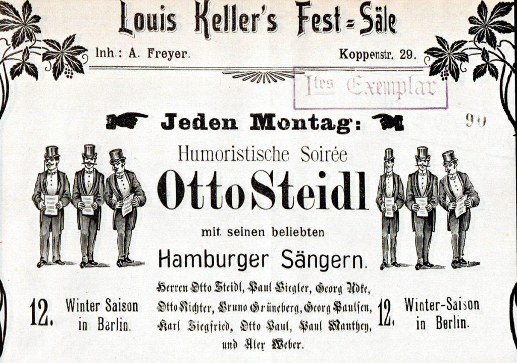 Louis Kellers Festsäle in der Koppenstraße, Berlin