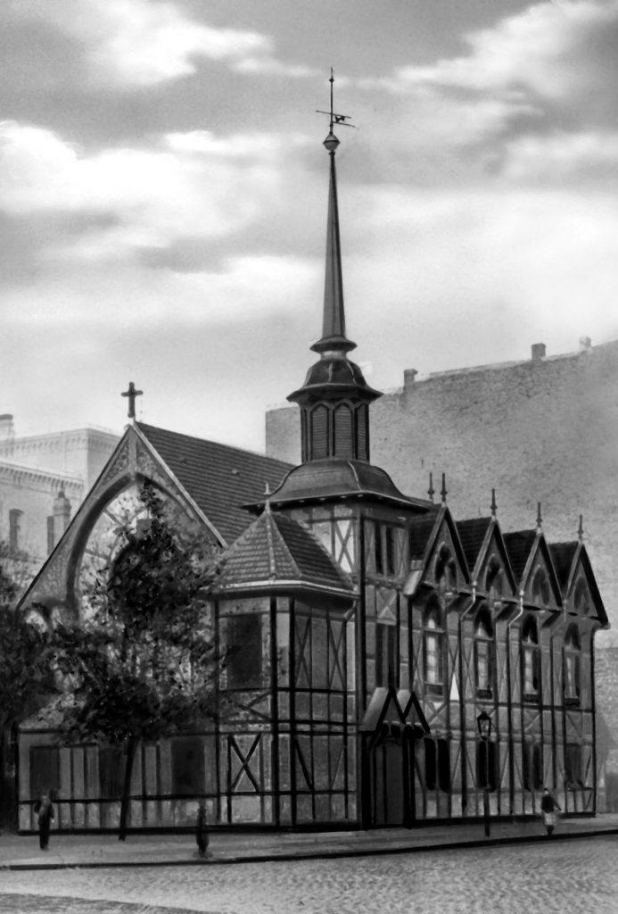 Die erste Lazaruskirche, Archiv St. Markus Friedrichshain