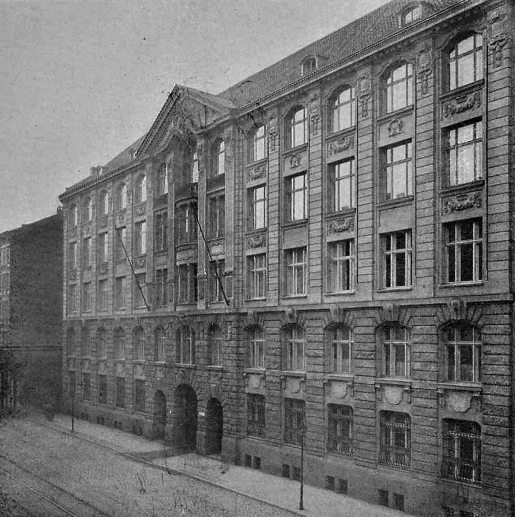 Pintschhauptverwaltung in der Andreasstrasse, Quelle: Eisenbahnwesen der Gegenwart 1911