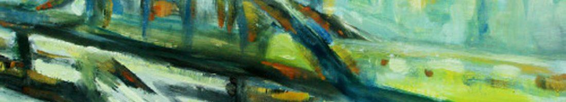 Kunst im Café Tasso mit Malerei von Karin Koch