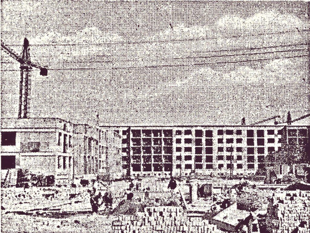 Die Neubauten an der Langen Straße, 1959, Quelle: Privatarchiv