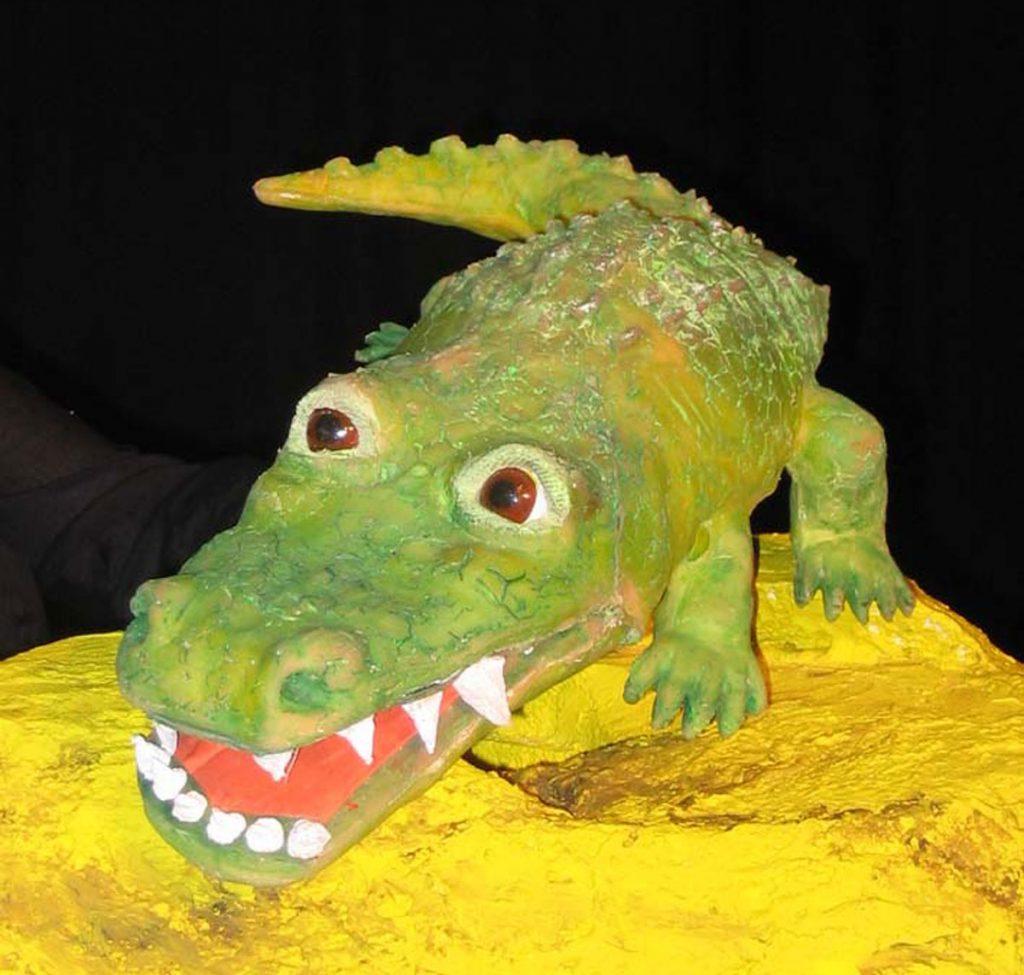 Das sehr unfreundliche Krokodil , ein Figurentheaterstück für Kinder ab 3 mit Evelyn Geller, Bild: Evelyn Geller