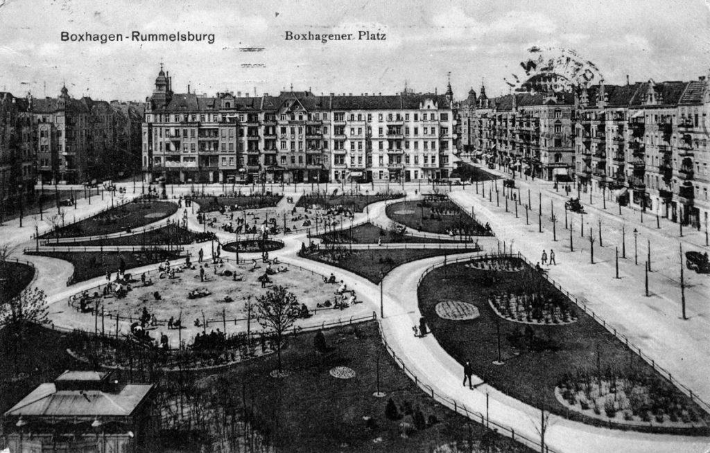 Postkarte vom Boxhagener Platz um 1910