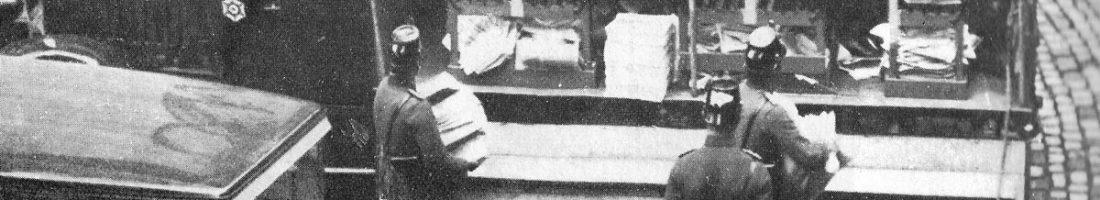 """Kapp-Putsch Beschlagnahme / Quelle: """"Der Arbeiterfotograf"""" 06.1926"""