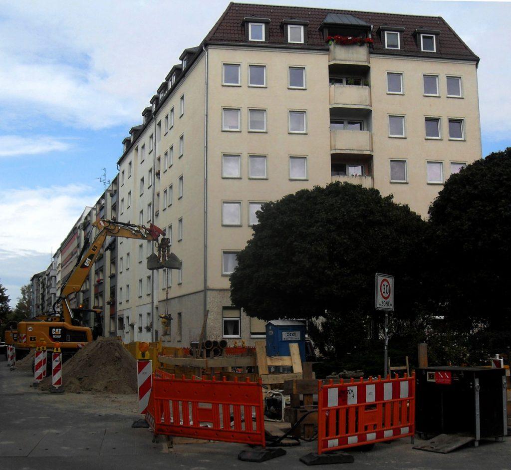 """Zwickelbau"" in der Palisadenstraße / Foto: Detlef Krenz"