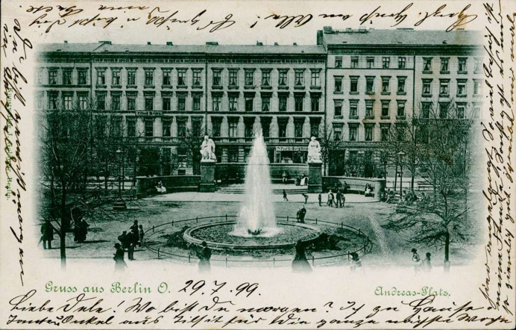 Post aus dem 19. Jahrhundert : Andreasplatz, Berlin